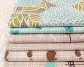 fq bundle, bluebird park, fountain + stone colour way fabric quilting cotton