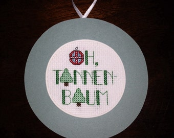 Oh Tannenbaum Cross Stitch Ornament