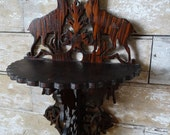 Vintage Deer Shabby Chic Ornate Tramp Folk Art Shelf