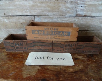 Vintage Wooden Cheese Boxes 1 of 2