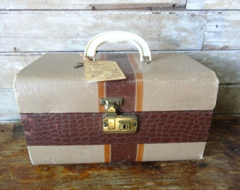 Vintage Carring On Suitcase 1950's Adorable