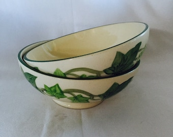 Vintage Franciscan Ivy Oatmeal Bowl Gladding McBean & Company 1950s Two Bowls California Pottery