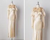 vintage 1930s dress / 30s wedding dress / 1930s bridal gown / One True Love dress