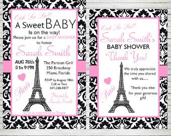 Paris invitation etsy paris invitation bridal shower baby shower birthday party editable invitation templates eiffel tower parisian theme editable solutioingenieria Choice Image