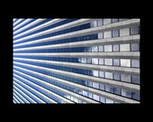 Architecture Photography-Abstract Wall Art-Modern Decor-Urban Building-Reflection on Glass-Sunbeams-Large Wall Canvas-Linear-Perspective