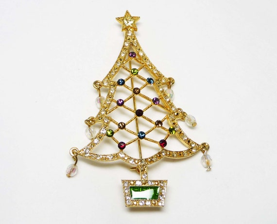 Avon annual christmas tree brooch holiday