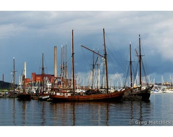 Fine Art Color Photography Ships in the Harbor in Helsinki Finland
