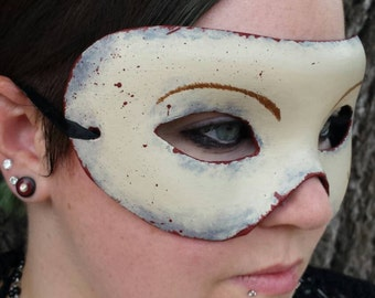 Bloody Skin Face Paper Mache Mask