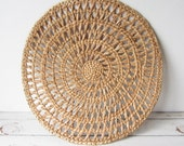 Vintage 16 inch Round Woven Runner BOHO Decor