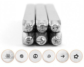 Symbols and Shapes 2 Combo Metal Stamp ImpressArt-3mm  Design Stamp-Perfect for Your Hand Stamping Needs-Steel Stamps