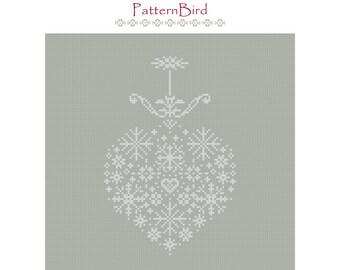 Christmas Motif II. Instant Download PDF Cross Stitch Pattern