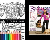 Dachshund Coloring Pages Adult Art Coloring Book Dogs by Heather Galler Printable Instant Download