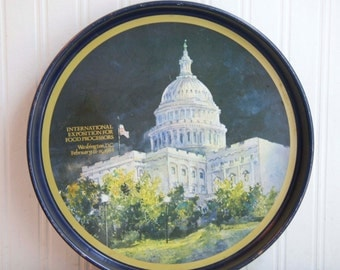 Vintage Washington DC Tray for International Exhibition for Food Processors, 1984 Continental Can Company, Essence of Democracy, Tom Lynch