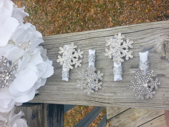 Snowflake brooch boutonniere snowflake broach boutonniere winter