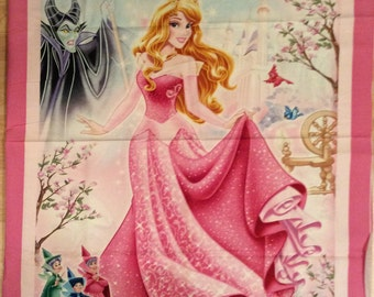A Beautiful Disney Sleeping Beauty With Her Fairy Godmothers Cotton Fabric Panel Free US Shipping