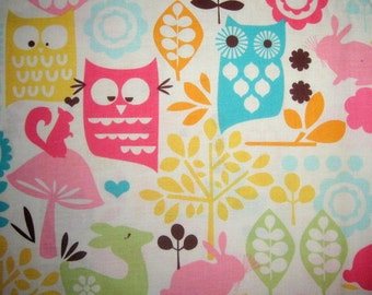 21X44 FOREST LIFE Cotton Fabric Watermelon