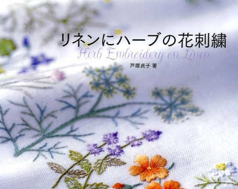 Herb Embroidery on Linen 1 Totsuka Japanese Craft Book