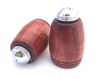 Salt and Pepper Shaker ** Gift for cook ** Anniversary Gift ** Wedding Gift ** Housewarming Gift ** Hand Turned Paduak - Wood