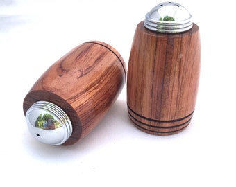 Salt and Pepper Shaker ** Gift for cook ** Anniversary Gift ** Wedding Gift ** Housewarming Gift ** Hand Turned Bloodwood - Wood