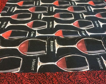 Table Runner ** All About The Reds - Wine **