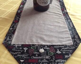 Table Runner - House Warming Gift - Handmade Gift - 2nd Anniversary Gift ** Wine and Cheese Runner **