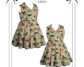 Vintage Plus sized Dress %0's style. Paper Sewing pattern. Drafted for curvy figures UK sizes 18-24