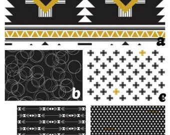 Custom Crib Bedding You Design   in  Tribal in black