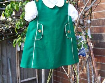 Green Florence Eiseman Jumper Style Girls Dress