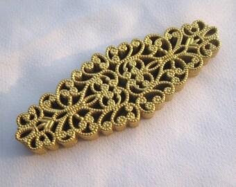 10pcs Lace Filigree Raw Brass Filigree Findings Jewelry Making bf198