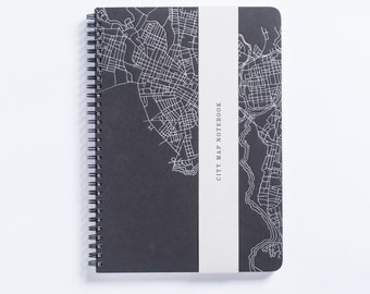 CT City Collection | New Haven City Map Letterpress Notebook - Spiral Bound