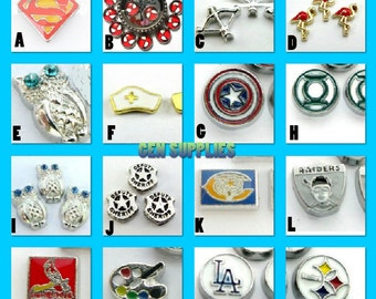 Floating Charms For Floating Lockets   Floating Glass Locket   Personalized Floating Memory Locket