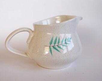 Vintage Creamer 1950s Franciscan Ware Fern Dell Pattern-Speckled Ceramic!