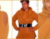 Instant Download Pattern - Crochet Sweater Pattern - Cowl Neck Tunic - Plus Size Clothing - PDF Pattern