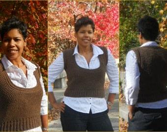 Crochet Vest Pattern - Scoop Neck Vest - Crochet Shirt- Crochet Top - Easy Crochet Vest - Guchet - Plus Size Crochet - Winter Crochet