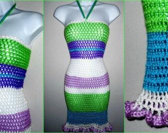 Crochet Dress Pattern - Crochet Dress - Crochet Pattern Strapless Crochet Dress Summer Crochet - Crochet Swimsuit Cover - Crochet Wrap