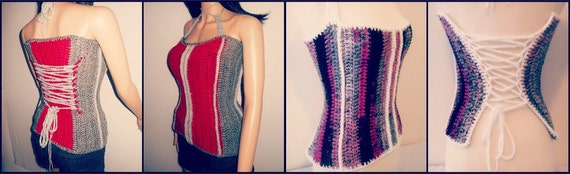 Crochet Corset Top Pattern - Plus Size Clothing - Plus Size Crochet - Crochet Top Pattern - Crochet Shirt - Crochet Vest - Easy Crochet