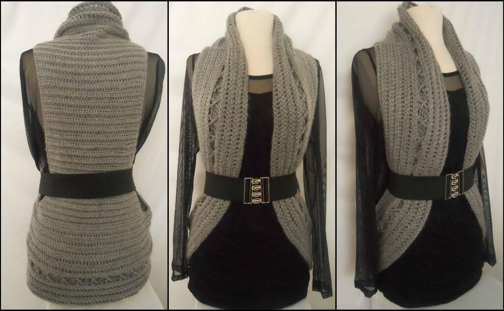 Crochet Vest Pattern Circular Crochet Vest Plus Size