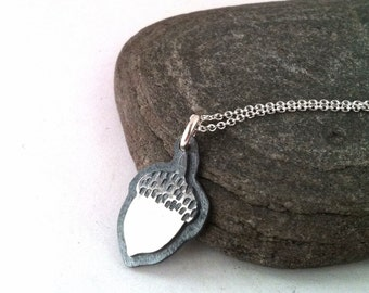 Silver Acorn Necklace - Small Beginnings
