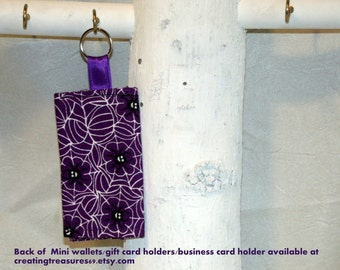Lemac Fabric Mini Wallet, Gift Card Holder,Credit Card Holder,  Business Card Holder, Money Holder etc with key ring (