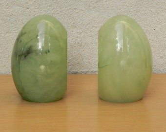 Green Egg Italian Marble Bookends