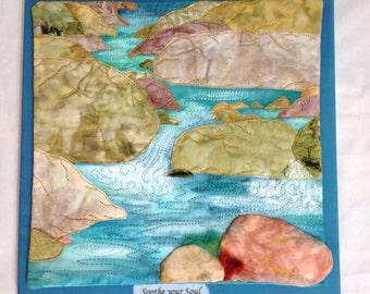 Babbling Brook : art quilt