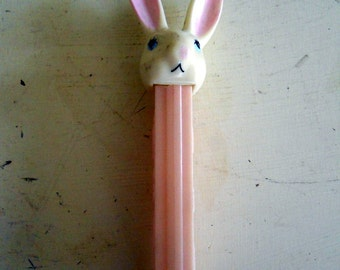 Vintage Bunny Rabbit Pez Dispenser Pink Blue 1970s 1980s