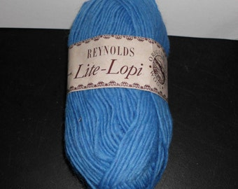 Reynolds Lite-Lopi Wool Yarn  Color-3709 Sapphire Blue