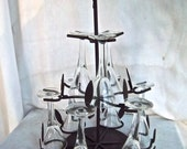 Reimagined Redesigned  Bar Cordial Glass Set Stand Home Decor Glasses Decorative Stand Set
