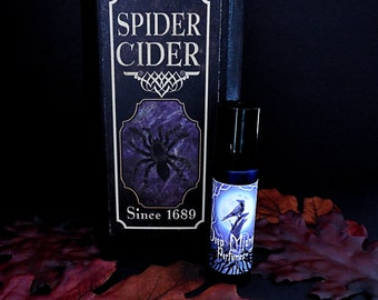SPIDER CIDER Perfume Oil - Fresh Fall Apples, Frankincense, Clove, Cinnamon Bark, Wood - Halloween Perfume - Fall Fragrance