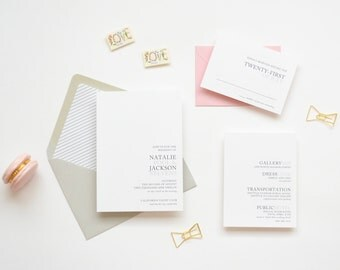 Wedding Invitation Sample - The Natalie Suite