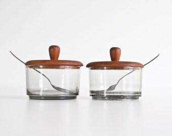 Vintage Danish Modern Condiment Set