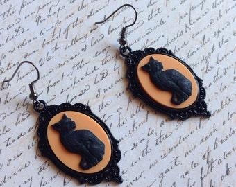 Halloween Cat - earrings