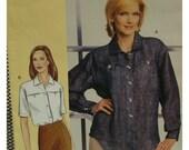 "Sandra Betzina Shirt Pattern, Plus Size, Yoke, Collar, Button Closure Pockets,Short/Long Sleeves, Vogue No.7636 UNCUT Bust 38-43"" OR 46-55"""