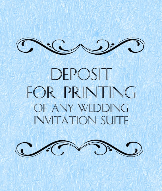 Wedding Invitation Deposit